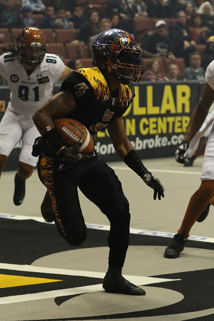 AFL 2016 April 9th Arizona Rattlers vs LA KISS game action at Honda Center in Anaheim, CA. (Photo by Jevone Moore/Full Image 360)