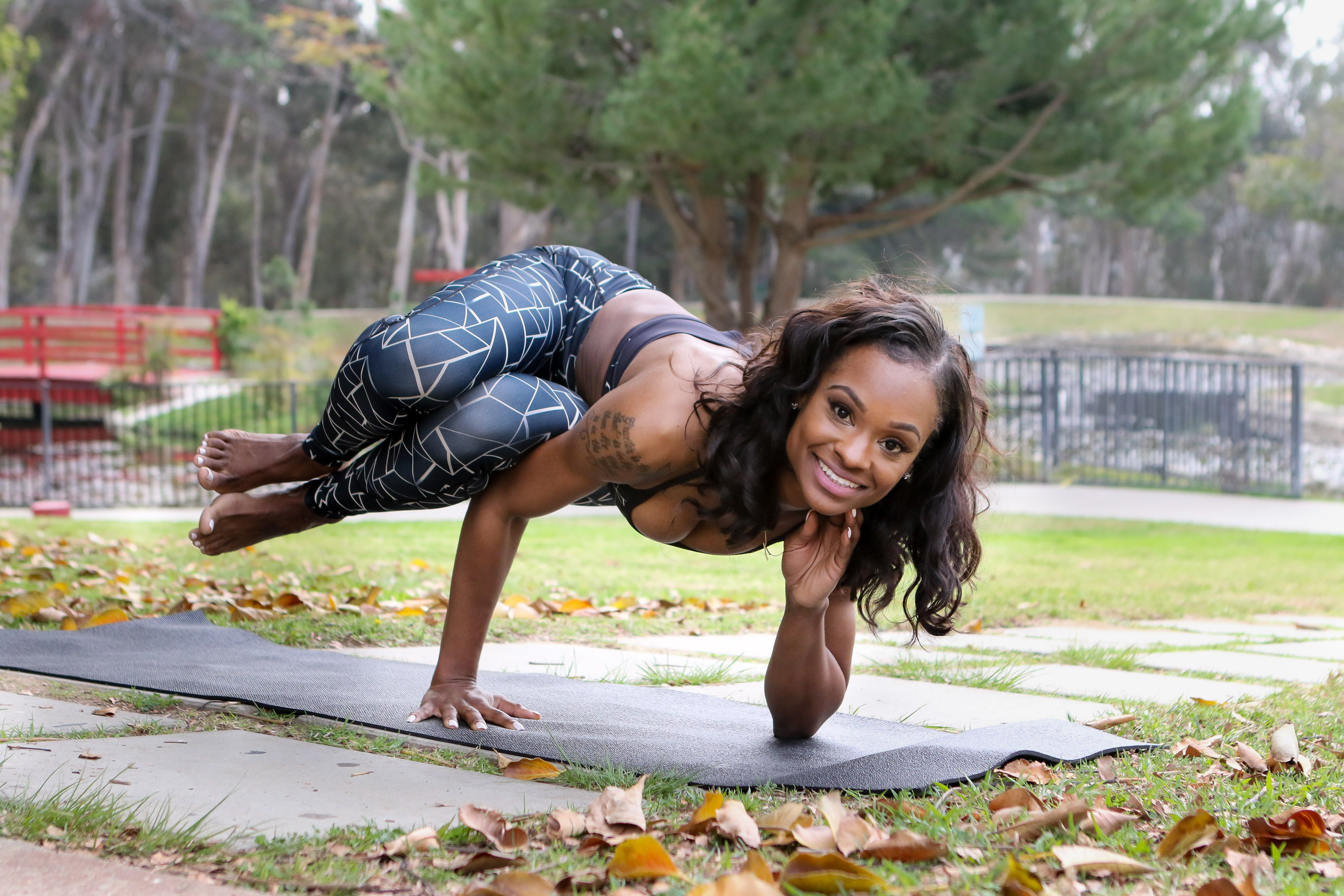 21 Day Yoga Challenge Pose Salena Collins - Photo by Jevone Moore / Full Image 360