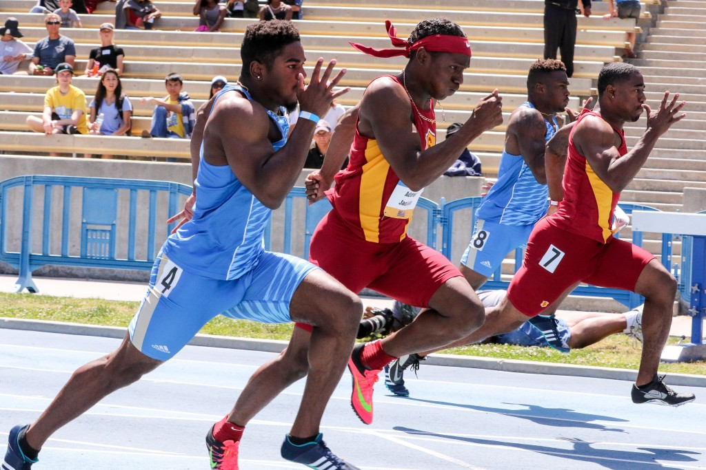 NCAA 2016 UCLA vs USC Dual Meet at UCLA on campus at Drake Stadium in Los Angeles, CA. (Photo by Jevone Moore/Full Image 360)
