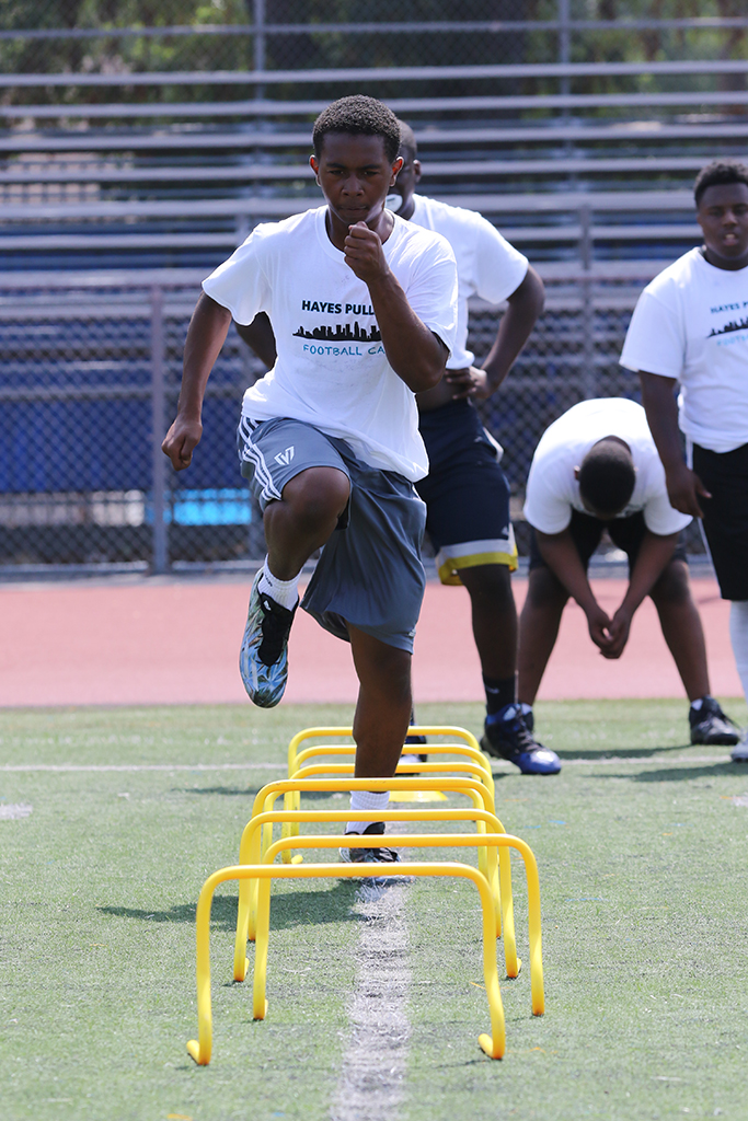 NFL: Jacksonville Jaguars Linebacker Hayes Pullard 2nd Annual Football Camp at Crenshaw High School in Los Angeles, Ca. (Photo by Jevone Moore/Full Image 360)