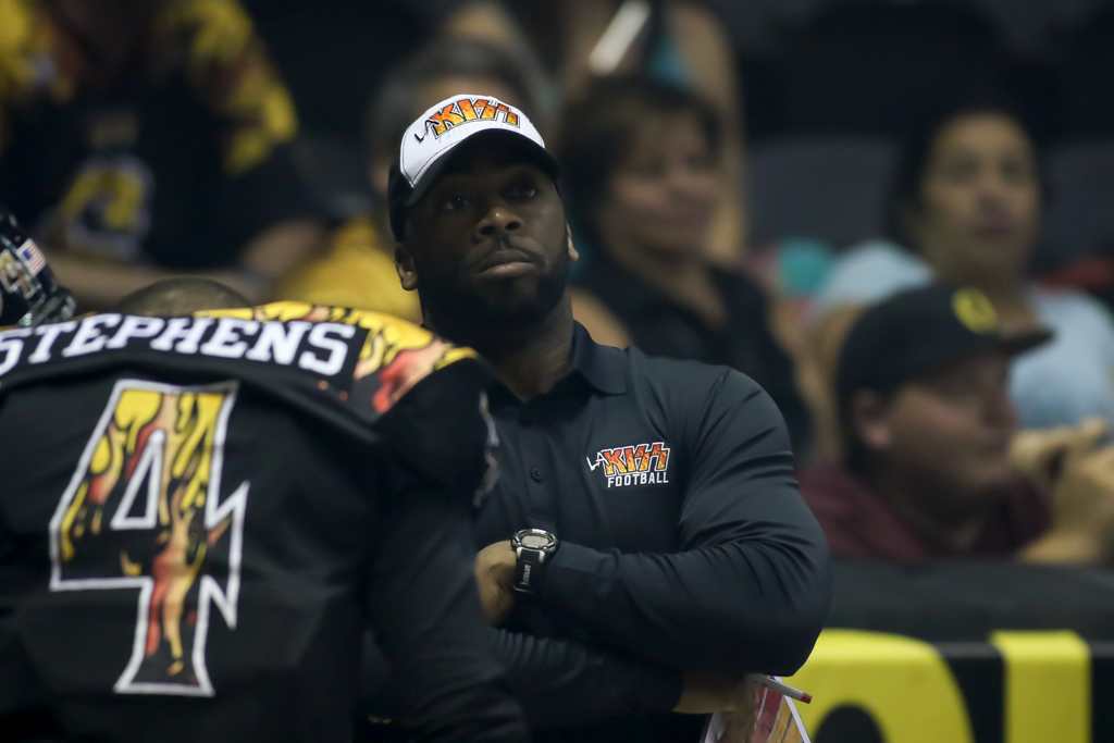 Cleveland Gladiators vs LA KISS AFL Playoff game August 7th, 2016 at Valley View Casino Center in San Diego, CA. (Photo by Jevone Moore/Full Image 360)