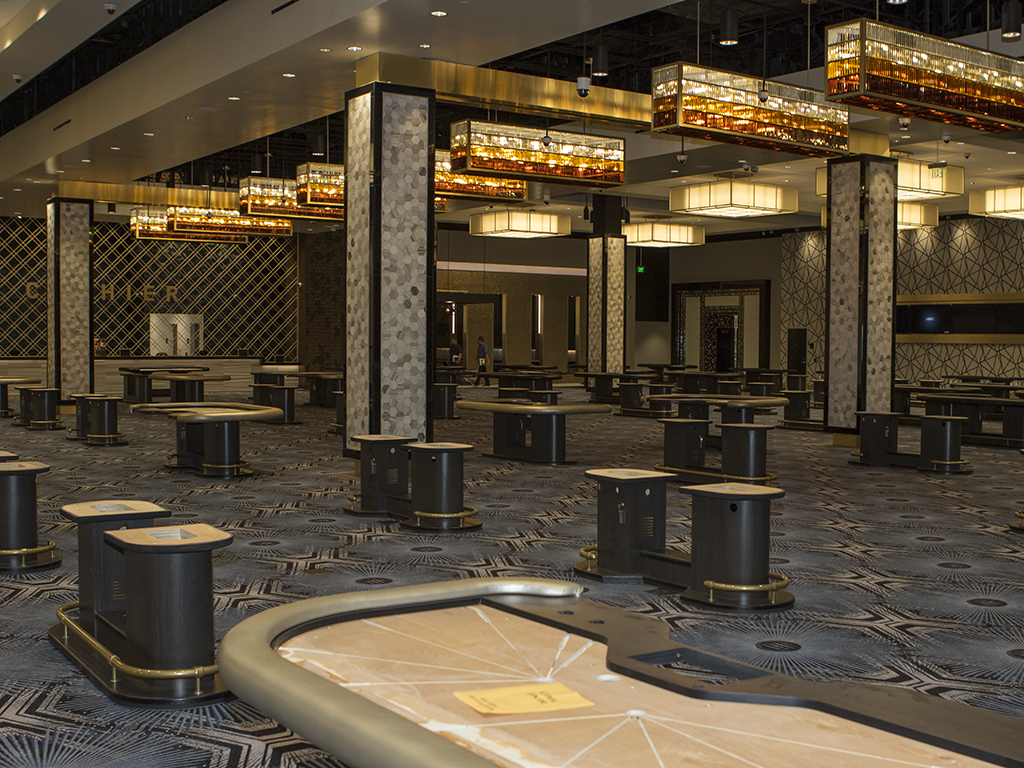 Main gaming area at the new Cary Grant Pavilion Hollywood Park Casino on August 9th, 2016 on site in Inglewood, Ca. (Photo by Jevone Moore/Full Image 360)