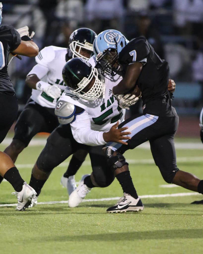 High School Football Hawkins High vs Carson Colts on September 9th, 2016. (Photo by Jevone Moore/Full Image 360)