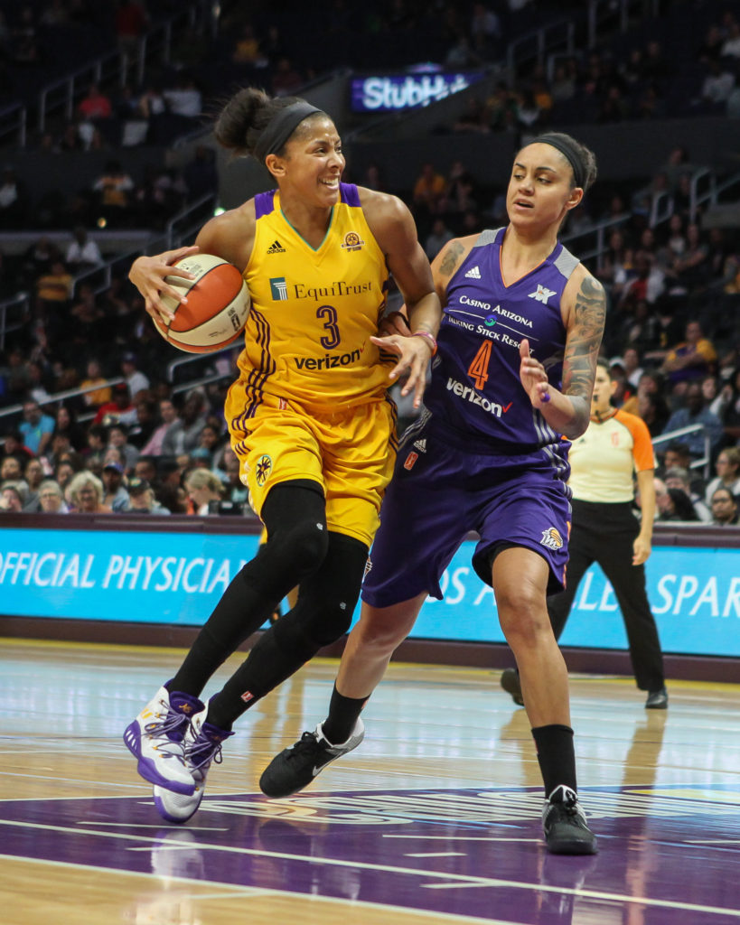 WNBA 2016: Phoenix Mercury vs Los Angeles Sparks game at Staples Center in Los Angeles, Ca on September 13, 2016. (Photo by Jevone Moore/Full Image 360
