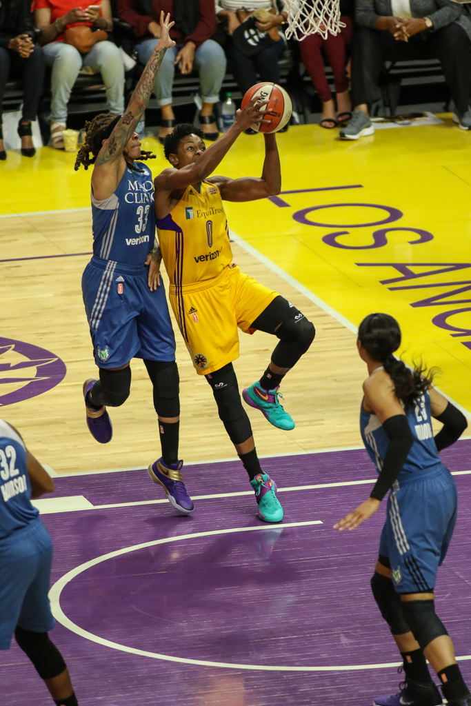 WNBA Finals 2016: Minnesota Lynx vs Los Angeles Sparks game at Staples Center in Los Angeles, Ca on October 16, 2016. (Photo by Jevone Moore/Full Image 360)