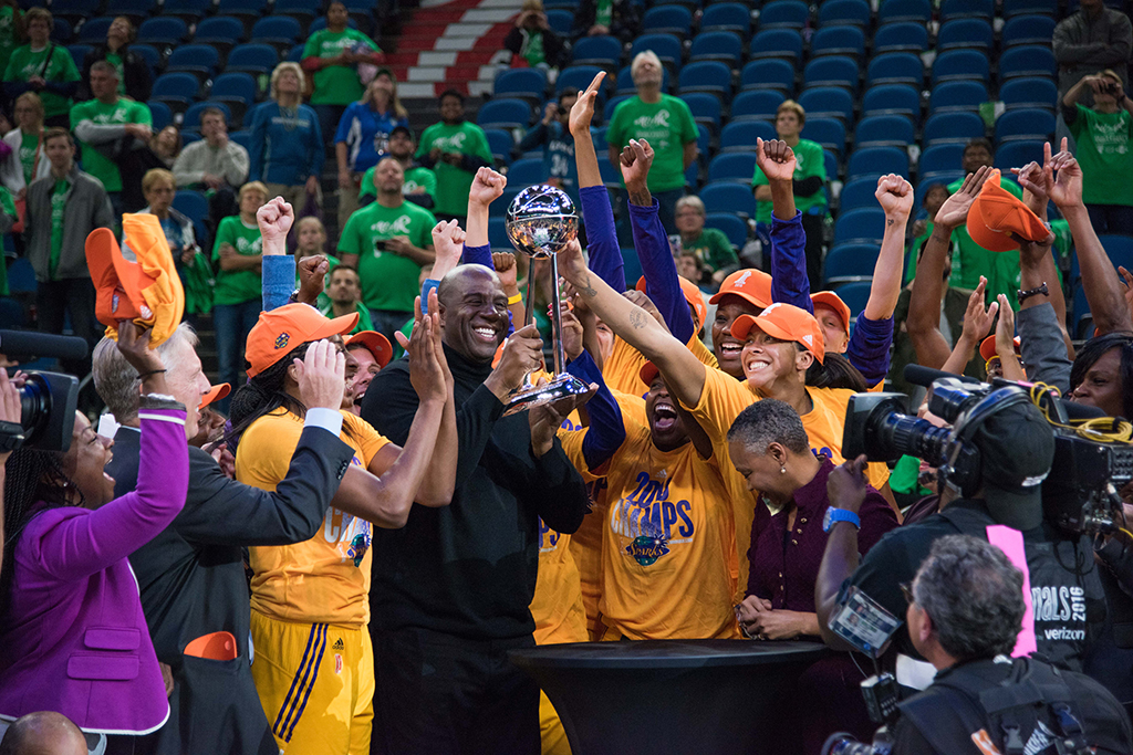 WNBA Finals 2016: Los Angeles Sparks vs Minnesota Lynx game at Target Center in Minneapolis, MN on October 20, 2016. (Photo by Brian Few Jr.)