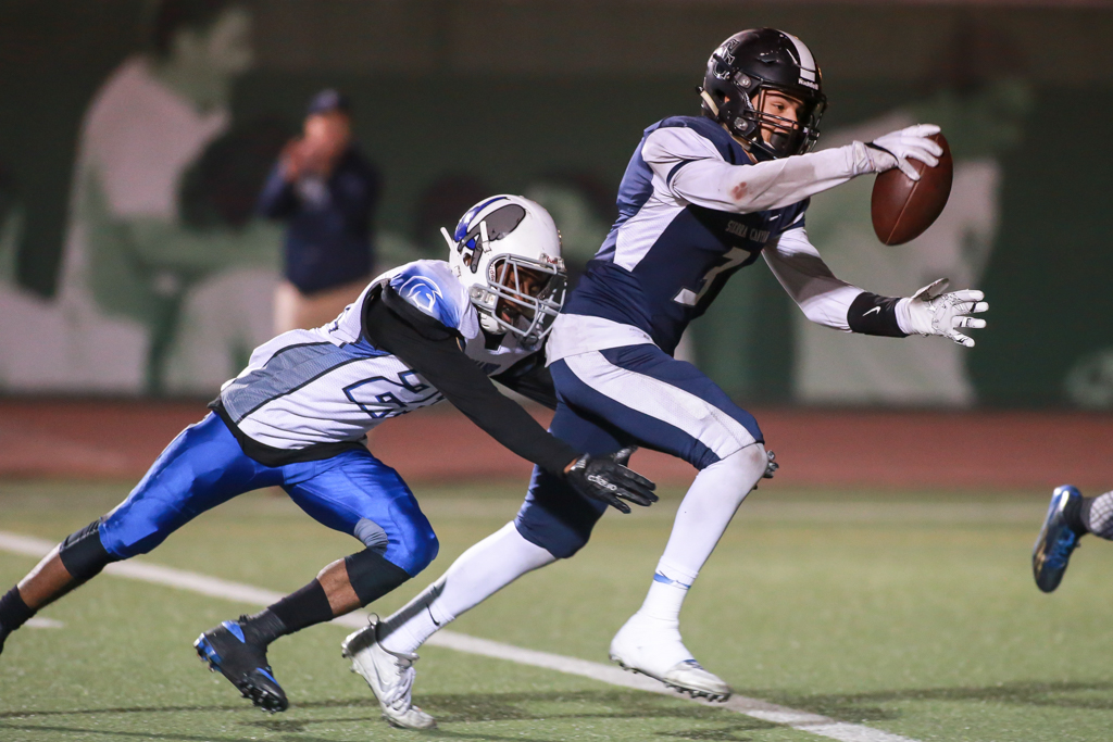 CIF State Division 2A Regional High School Football Los Angeles High Romans vs Sierra Canyon Trailblazers game action at Granada Hills High on December 10, 2016 (Photo by Jevone Moore/Full Image 360)