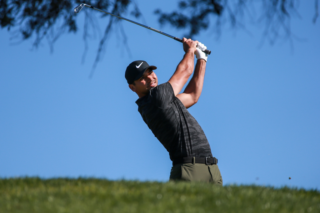 Jason Day teeing off on the South Course at Torrey Pines in San Diego, CA on January 26, 2017. (Photo by Jevone Moore/Full Image 360)