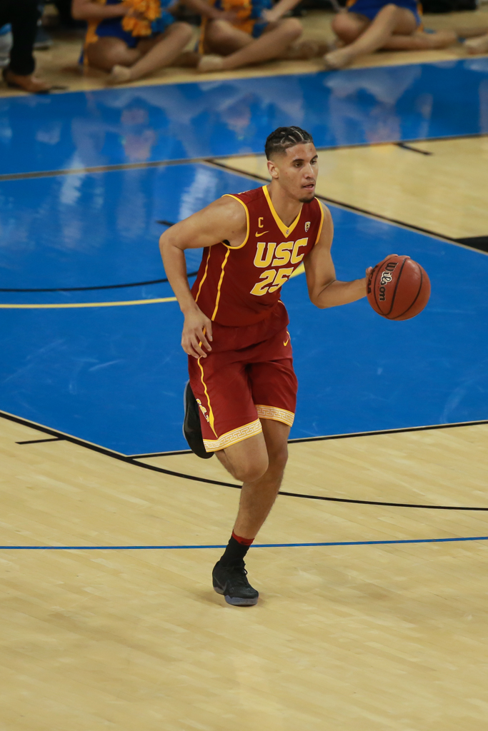 NCAA College Basketball second half game action during the college basketball game between the USC Trojans vs UCLA Bruins at Pauley Pavilion, Westwood, CA. (Photo by Jevone Moore/Full Image 360)