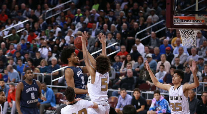 Sierra Canyon Marvin Bagley III in the paint during the CIFSS High School Semi finals Basketball doubleheader on February 24, at Galen Center in Los Angeles, CA. (Photo by Jevone Moore/Full Image 360)