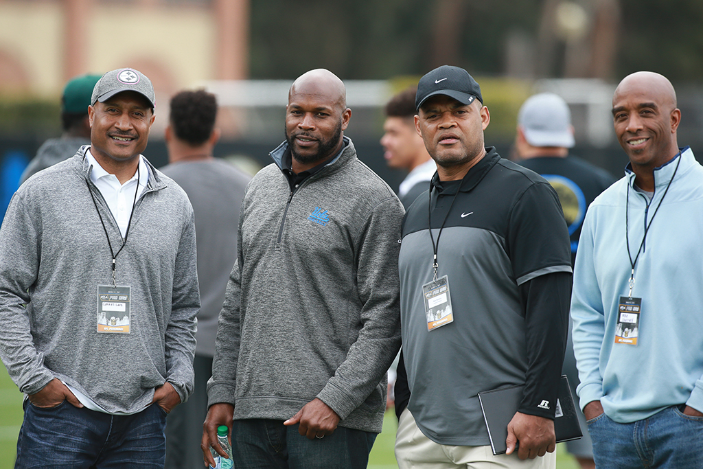 NFL Bruins Carnell Lake, Roman Phifer, Ken Norton Jr. and Mike Sherrard back for UCLA PRO DAY on campus on March 21, 2017 in Westwood, Ca. (Photo by Jevone Moore / Full Image 360)