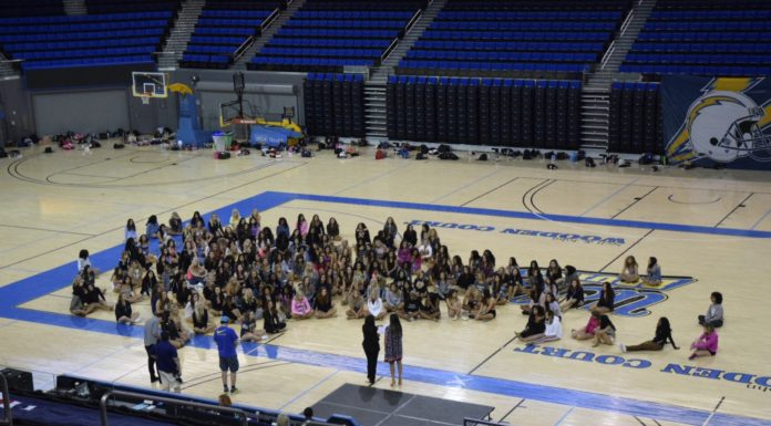 Open Audition at Pauley listening to Instruction. (Photo by Jaleesa Collins / fi360 News)