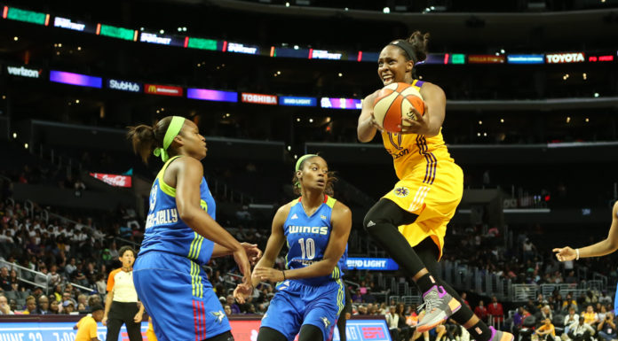WNBA 2017: Dallas Wings vs Los Angeles Sparks game at Staples Center in Los Angeles,